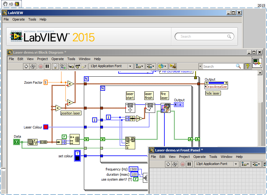 LabVIEW screen capture
